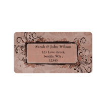 Rustic Vintage Blush Pink Wedding Label