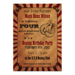 "Rustic Vintage Boxing Birthday Invitations 5"" X 7"" Invitation Card"
