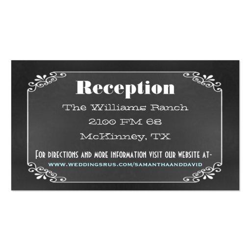 Rustic Vintage Chalk Board Wedding Enclosure Card Business Card Template