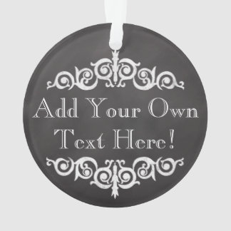 Rustic Vintage Chalkboard Custom Personalized Ornament