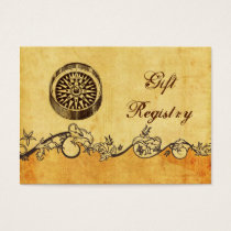 rustic, vintage ,compass nautical Gift registry Business Card