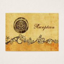 rustic, vintage ,compass nautical Reception cards