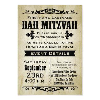 Rustic Vintage Country Bar Mitzvah Invitation