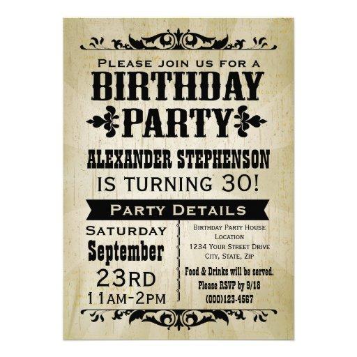 Vintage Birthday Party Invitations 38