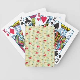 rustic vintage country floral girly chic trendy bicycle playing cards