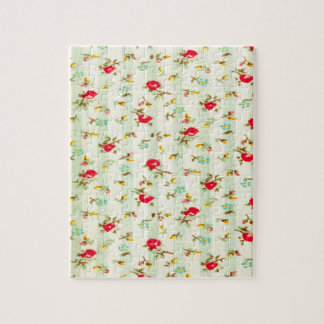rustic vintage country floral girly chic trendy puzzles
