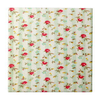 rustic vintage country floral girly chic trendy tile