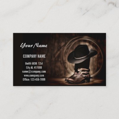 2c01aed99e0 Cowboy Boots Business Card | Zazzle.com