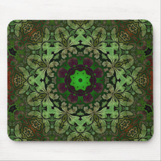 rustic vintage  distressed green damask pattern mouse pad