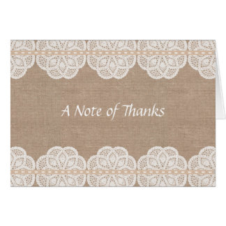 Rustic Vintage Doily Thank You Card