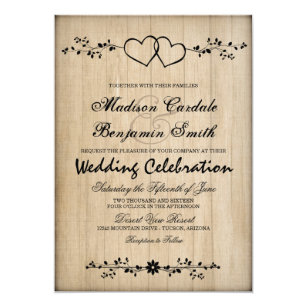 Double Heart Invitations Announcements Zazzle