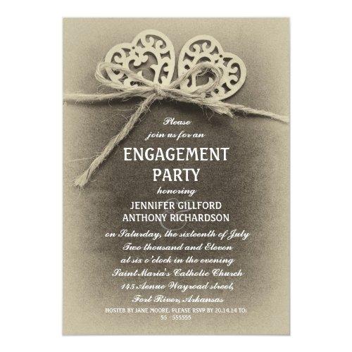 Best 50 Rustic Vintage Engagement Party Invitations Stunning – Best Engagement Party Invitations