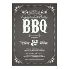Rustic Vintage Engagement Party Personalized Invitations