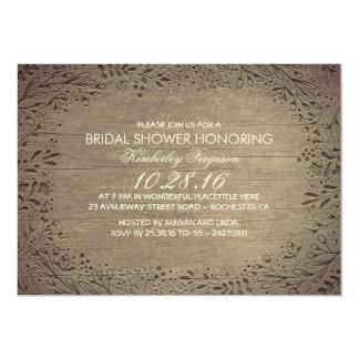 rustic vintage floral botanical bridal shower card