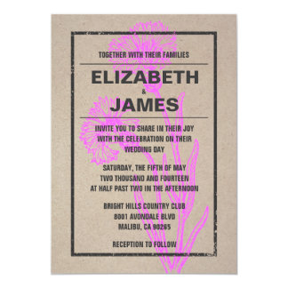 Rustic Vintage Flower Wedding Invitations Personalized Announcements