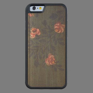 Rustic vintage flowers carved® maple iPhone 6 bumper case