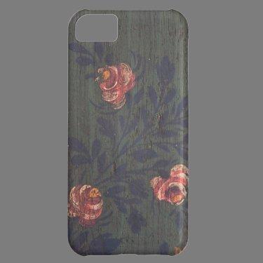 Rustic vintage flowers iPhone 5C cases
