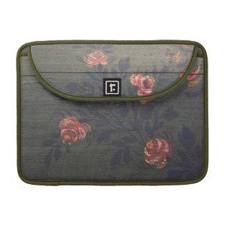 Rustic vintage flowers MacBook pro sleeve