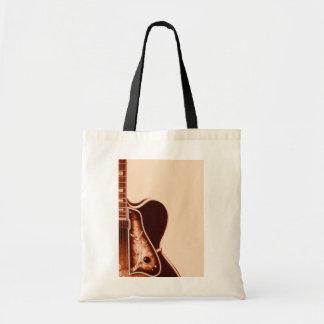 rustic vintage Guitar Western Country Wedding Budget Tote Bag