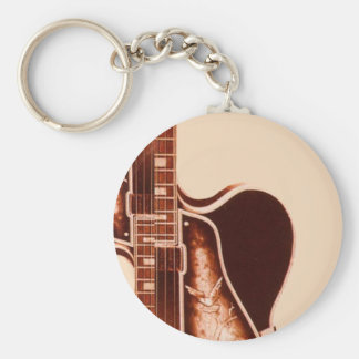 rustic vintage Guitar Western Country Wedding Keychain