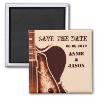 rustic vintage Guitar Western Country Wedding Magnet