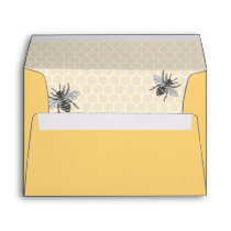 Rustic Vintage Honeycomb Bumble Bee Envelope