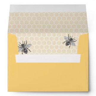 Rustic Vintage Honeycomb Bumble Bee Envelope