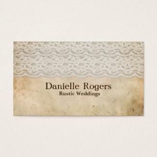 Rustic Vintage Lace Antique Elegant Business Card