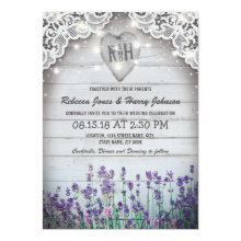 Rustic Vintage Lavender Wedding | Twinkle Lights Invitations