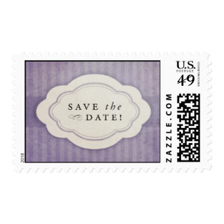 Rustic Vintage Lilac Purple Save the Date Stamps