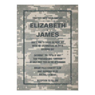 Rustic Vintage Military Wedding Invitations