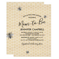 Rustic Vintage Mom to Bee Baby Shower Invitation