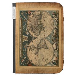 Rustic Vintage Old World Map Design Kindle Folio Cases