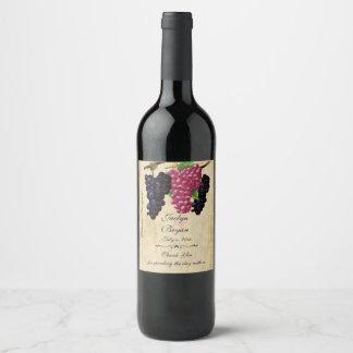 Rustic, Vintage Paper, Wedding Wine Wine Label