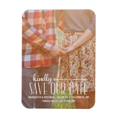 Rustic Vintage | Photo Save The Date Magnet at Zazzle