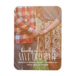 Rustic Vintage | Photo Save the Date Rectangular Photo Magnet
