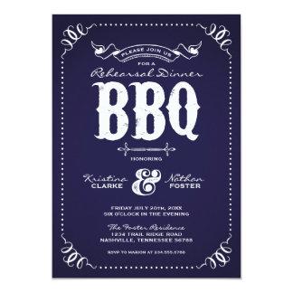 Rustic Vintage Rehearsal Dinner BBQ Card