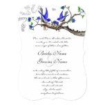 "Rustic Vintage Royal Blue Wedding Invitations 5"" X 7"" Invitation Card"