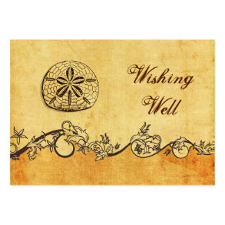 rustic, vintage ,sand doll beach wishing well card large business cards (Pack of 100)