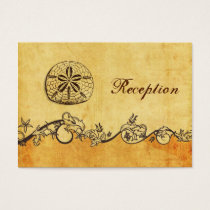 rustic, vintage ,sand dollar beach Reception cards