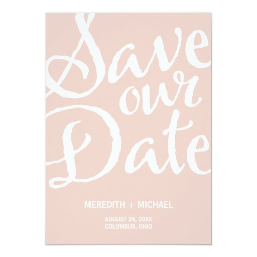 Rustic Vintage Save the Date Custom Announcement