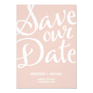 Rustic Vintage Save the Date 5x7 Paper Invitation Card