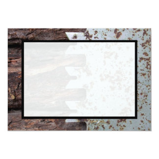 Rustic Vintage Saw Colourful Pattern 5x7 Paper Invitation Card