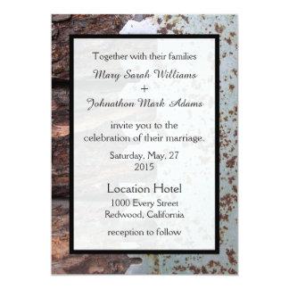 Rustic Vintage Saw Wedding Invitation