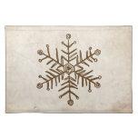 Rustic Vintage Snowflake Place Mats