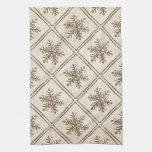 Rustic Vintage Snowflake Towels
