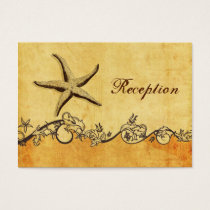 rustic, vintage ,starfish beach Reception cards