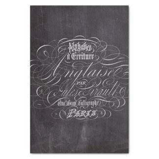 """rustic vintage swirls french country chalkboard 10"""" x 15"""" tissue paper"""