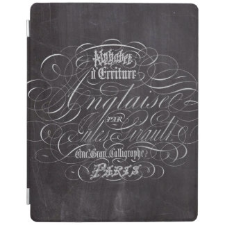 rustic vintage swirls french country chalkboard iPad cover