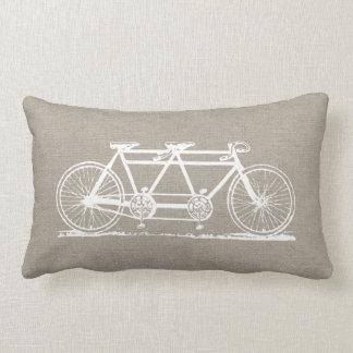 Rustic Vintage Tandem Bicycle Pillow